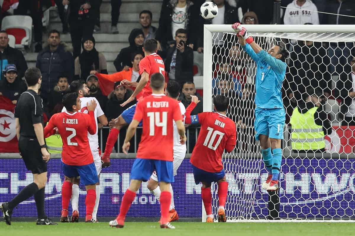 Costa Rica lost to Tunisia 0-1 in Nice, France, on March 27.