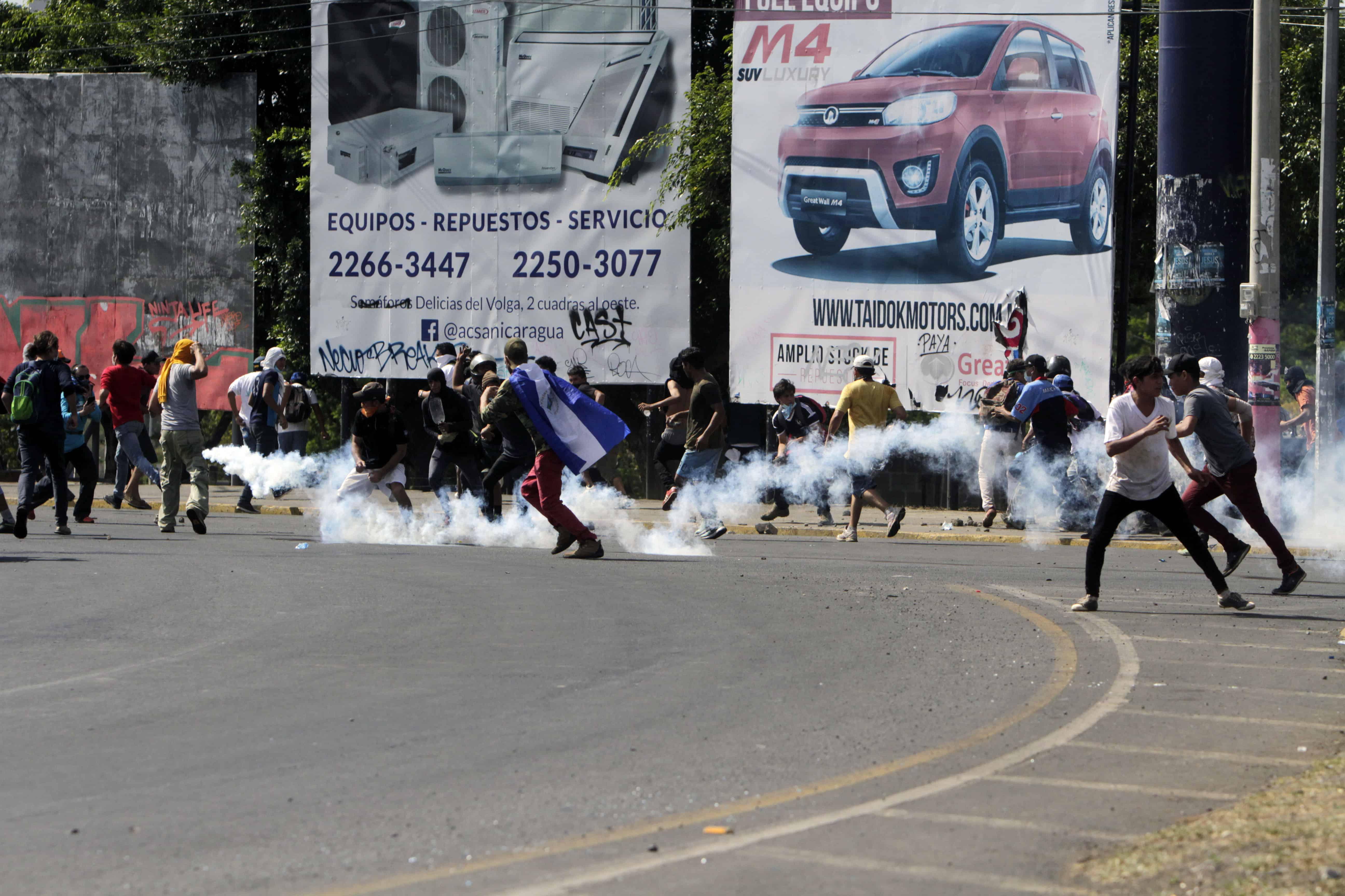 Protests in Managua, Nicaragua, April 18, 2018.