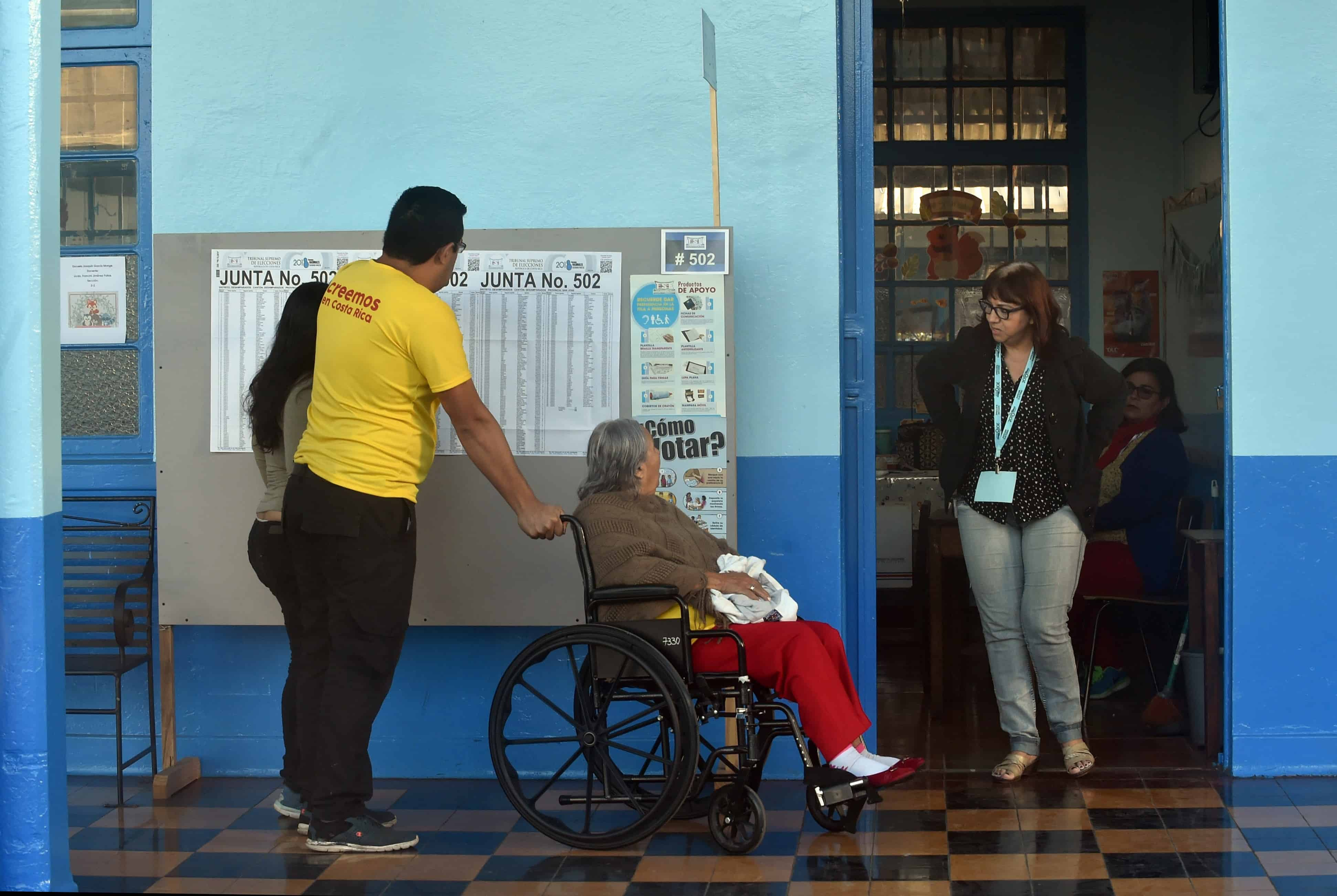 Voters in San José, Costa Rica on April 1, 2018.