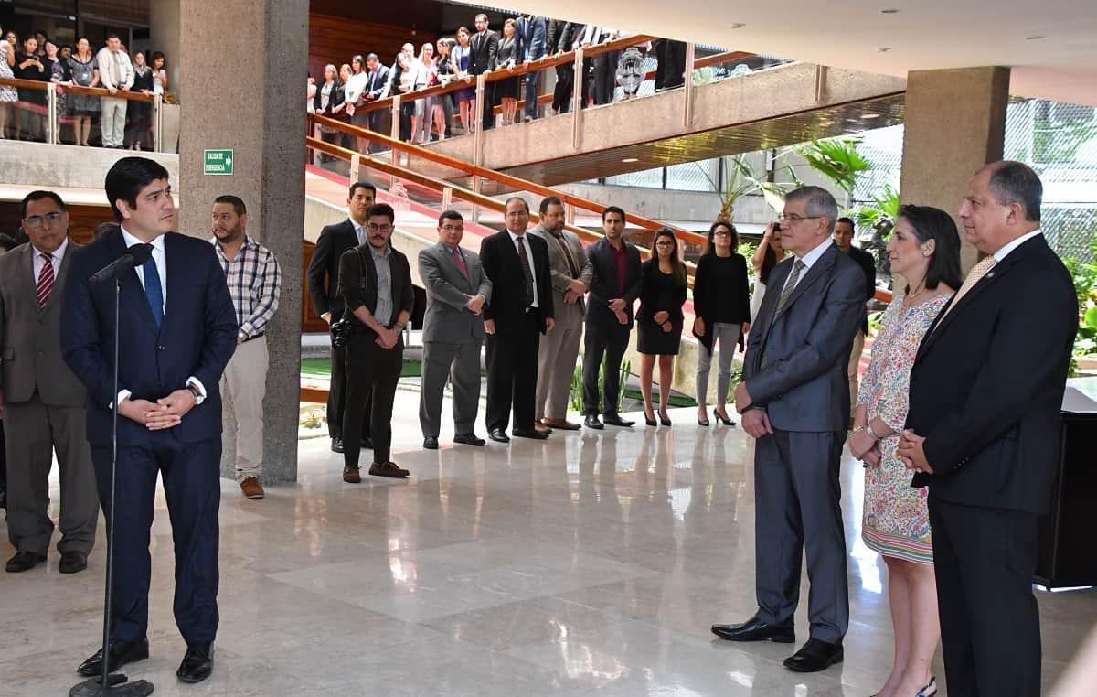 President-elect Carlos Alvarado at Costa Rica's Casa Presidencial