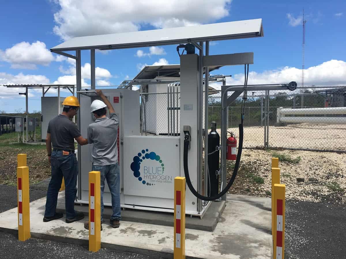 The hydrogen dispenser at Ad Astra, Costa Rica.