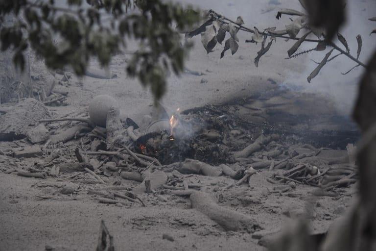 San Miguel Los Lotes, Guatemala, after the eruption of Fuego Volcano.