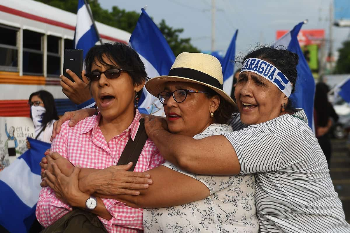 An anti-government protest in Nicaragua.